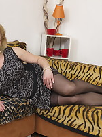 Naughty mature lady doing her toy boy