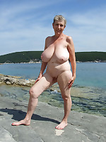 Nudist granny with killer tits - Chubby Naturists