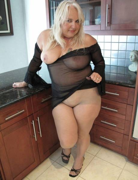 image Busty grandma in stockings gets her hairy pussy fucked